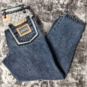 Novin Quilted Patch Work High Rise Tapered Leg 90'